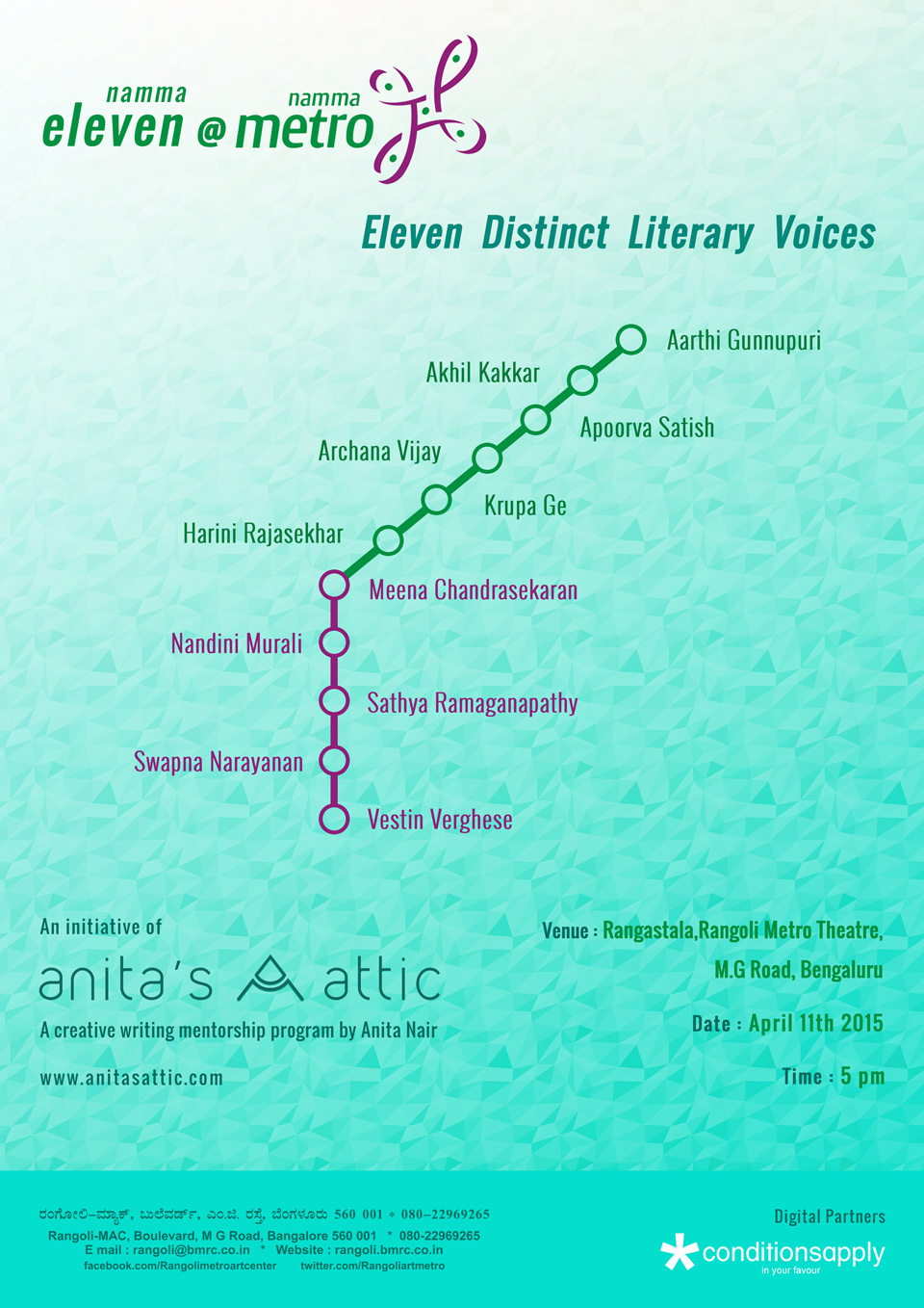 Anitas Attic-Season 1-Finale at Namma Metro-MG Road-Bengaluru